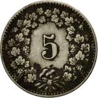 Switzerland / Five Centimes (Rappen) 1890 - reverse photo