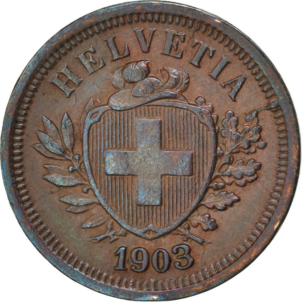 One Centime (Rappen) 1903: Photo Coin, Switzerland, Rappen 1903