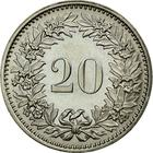 Switzerland / Twenty Centimes (Rappen) 1974 - reverse photo