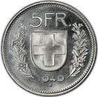 Switzerland / Five Francs 1949 - reverse photo
