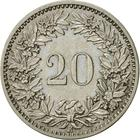 Switzerland / Twenty Centimes (Rappen) 1884 - reverse photo