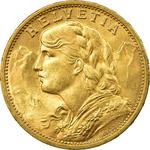 Switzerland / Twenty Francs 1911 - obverse photo