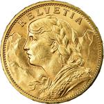 Switzerland / Twenty Francs 1915 - obverse photo
