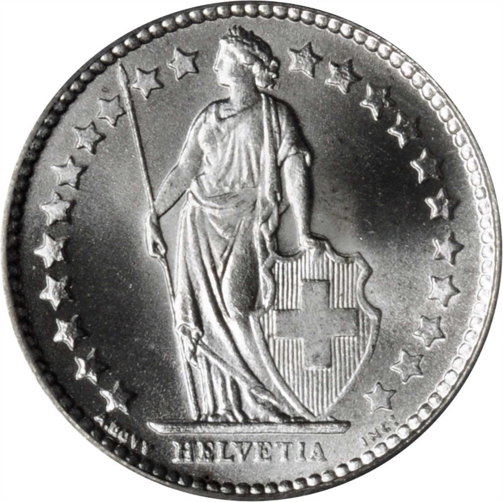 Half Franc 1921: Photo Switzerland 1921-B 1/2 franc