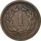 Switzerland / One Centime (Rappen) 1905 - reverse photo