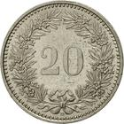 Switzerland / Twenty Centimes (Rappen) 1987 - reverse photo