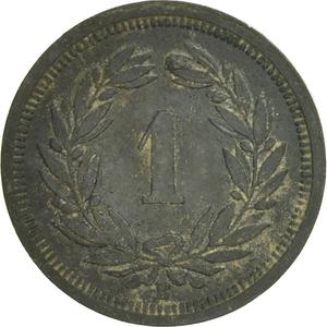 Switzerland / One Centime (Rappen) 1942 - reverse photo