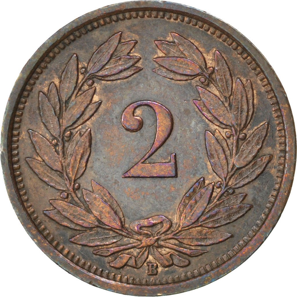 Two Centimes (Rappen) 1936: Photo Coin, Switzerland, 2 Rappen 1936