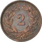 Switzerland / Two Centimes (Rappen) 1936 - reverse photo