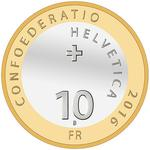 Switzerland / Ten Francs 2016 Edelweiss - obverse photo