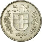 Switzerland / Five Francs 1940 - reverse photo