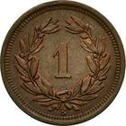 Switzerland / One Centime (Rappen) - reverse photo