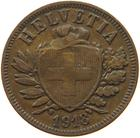 Switzerland / Two Centimes (Rappen) 1918 - obverse photo