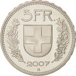 Switzerland / Five Francs 2007 - reverse photo