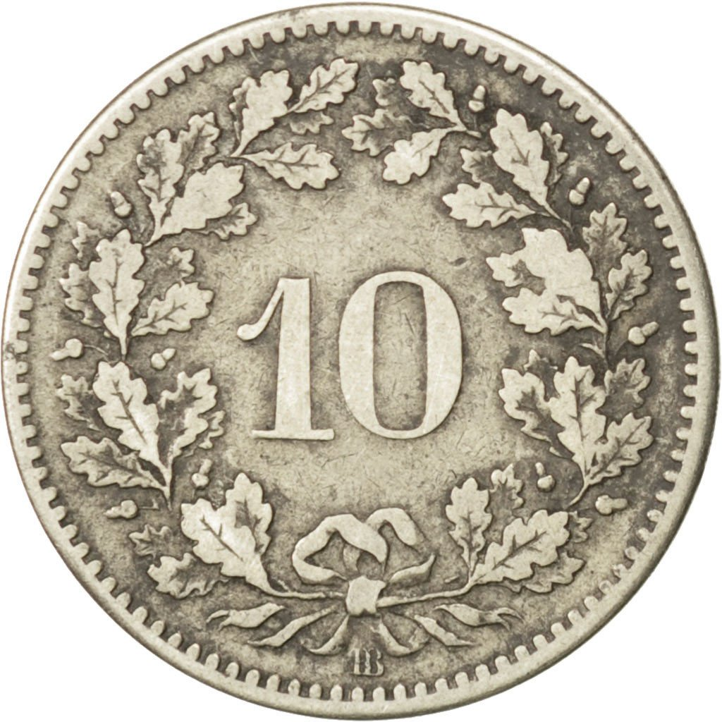 Ten Centimes (Rappen) 1850: Photo Coin, Switzerland, 10 Rappen 1850