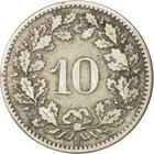 Switzerland / Ten Centimes (Rappen) 1850 - reverse photo