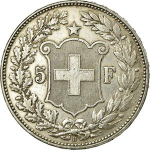 Switzerland / Five Francs 1907 - reverse photo