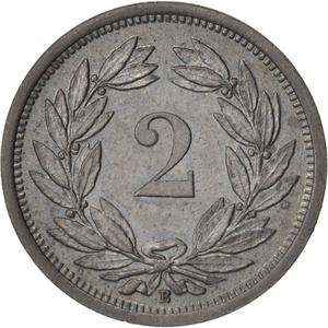 Switzerland / Two Centimes (Rappen) 1946 - reverse photo