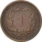 Switzerland / One Centime (Rappen) 1882 - reverse photo