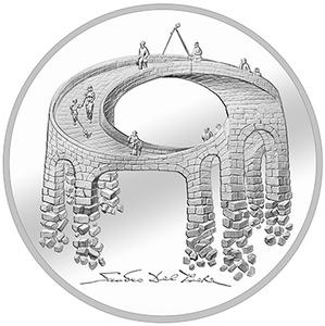 Switzerland / Twenty Francs 2021 Illusion - Bridge of Life - reverse photo