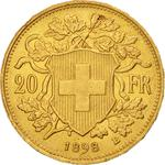 Switzerland / Twenty Francs 1898 - reverse photo