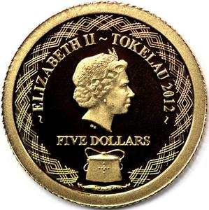 Tokelau / Gold Half Gram 2012 Red-Back Spider - obverse photo