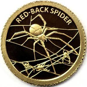 Tokelau / Gold Half Gram 2012 Red-Back Spider - reverse photo