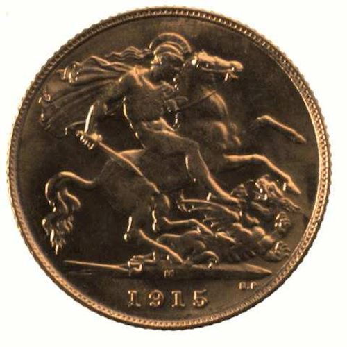 Half Sovereign 1915: Photo Coin - Half Sovereign, Victoria, Australia, 1915