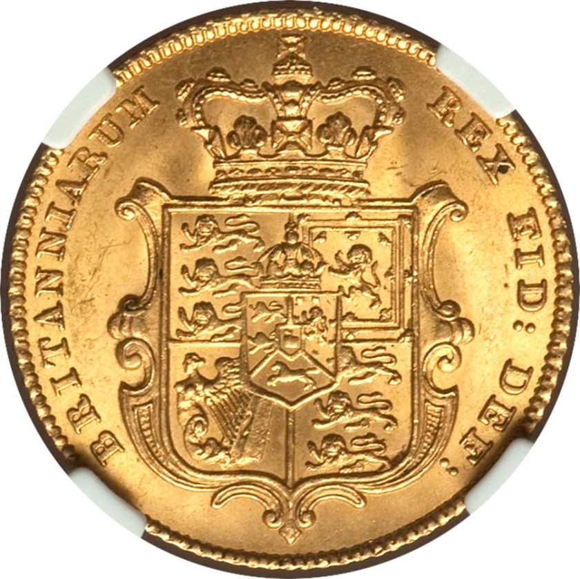Half Sovereign 1827: Photo Great Britain 1827 1/2 sovereign