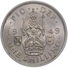 Shilling 1949 Scottish: Photo 1949 'Scottish' Shilling, George VI