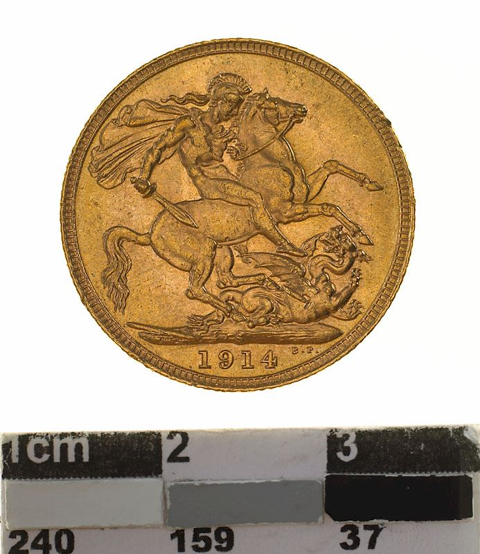 Sovereign 1914: Photo Coin - Sovereign, New South Wales, Australia, 1914