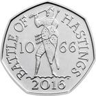 United Kingdom / Fifty Pence 2016 Battle of Hastings - reverse photo