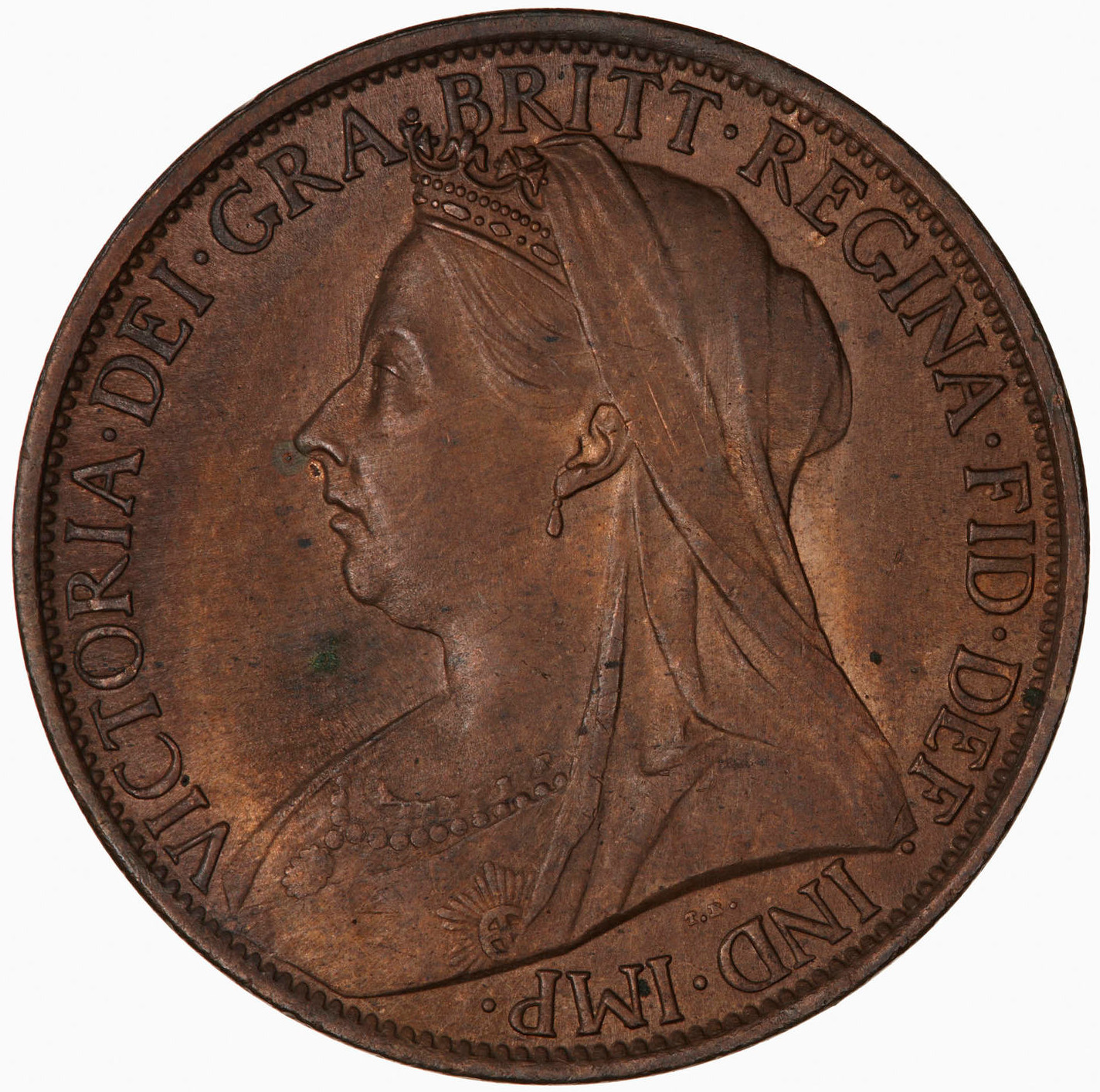 Penny 1900: Photo Coin - Penny, Queen Victoria, Great Britain, 1900