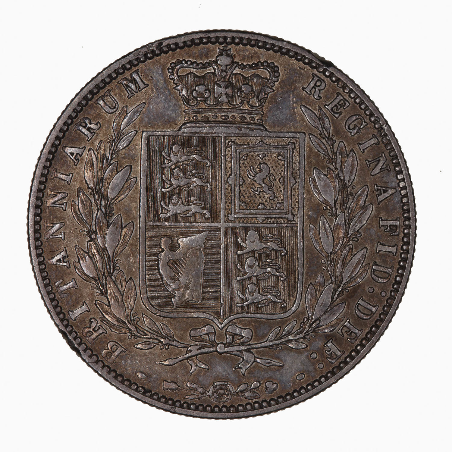 Halfcrown 1875: Photo Coin - Halfcrown, Queen Victoria, Great Britain, 1875