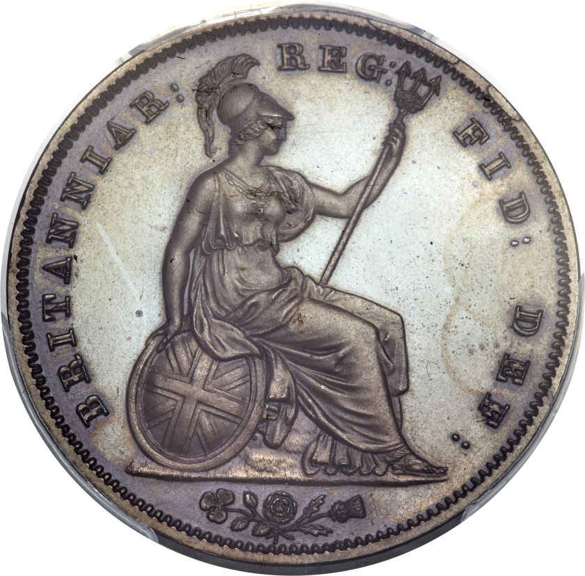 Penny 1839 (Proof only): Photo Great Britain 1839 penny