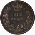 Sixpence 1880: Photo Proof Coin - Sixpence, Queen Victoria, Great Britain, 1880