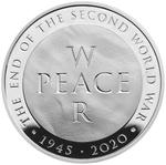 United Kingdom / Five Pounds 2020 End of World War Two / Silver Proof FDC - reverse photo