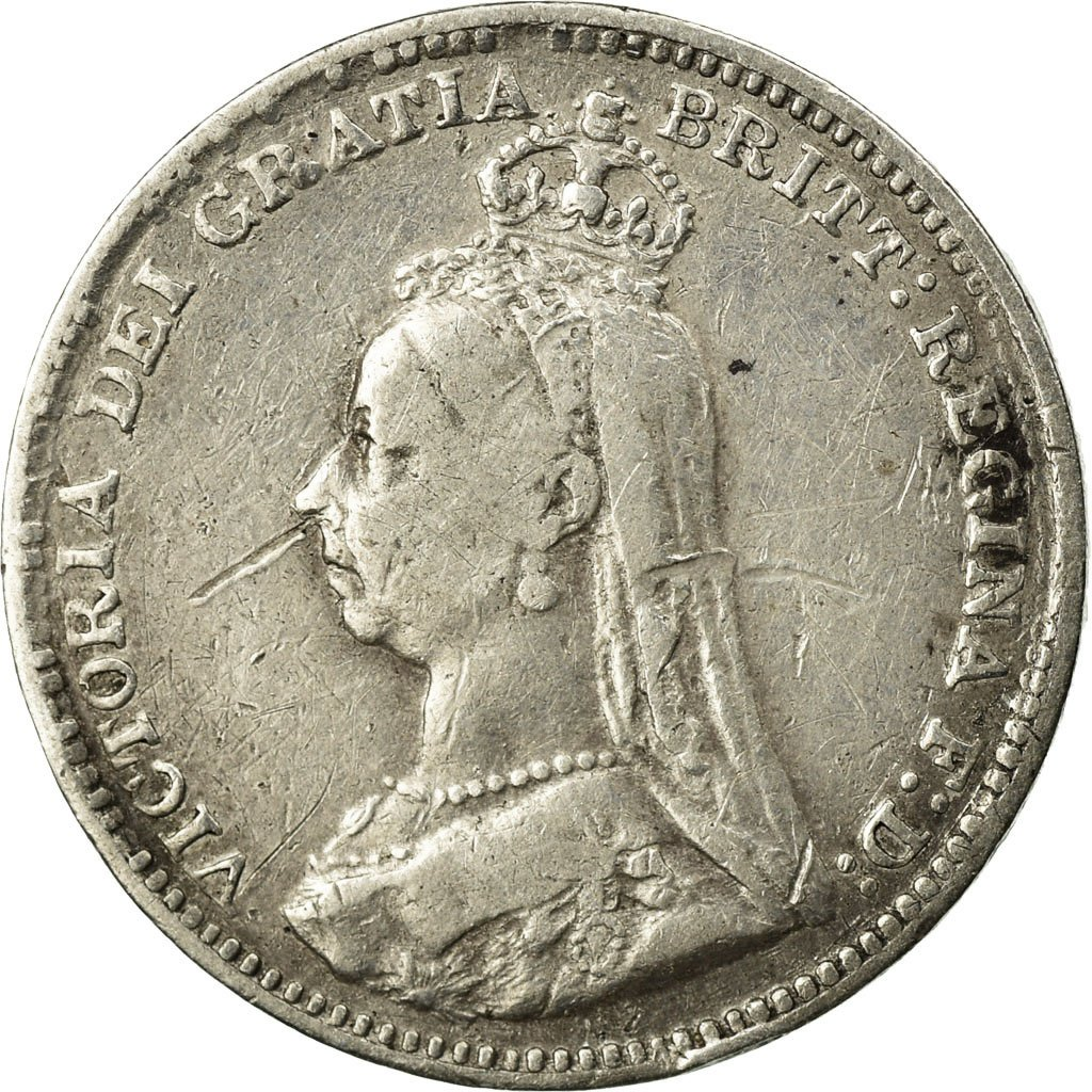 Threepence 1890 (Circulating): Photo Coin, Great Britain, 3 Pence, 1890