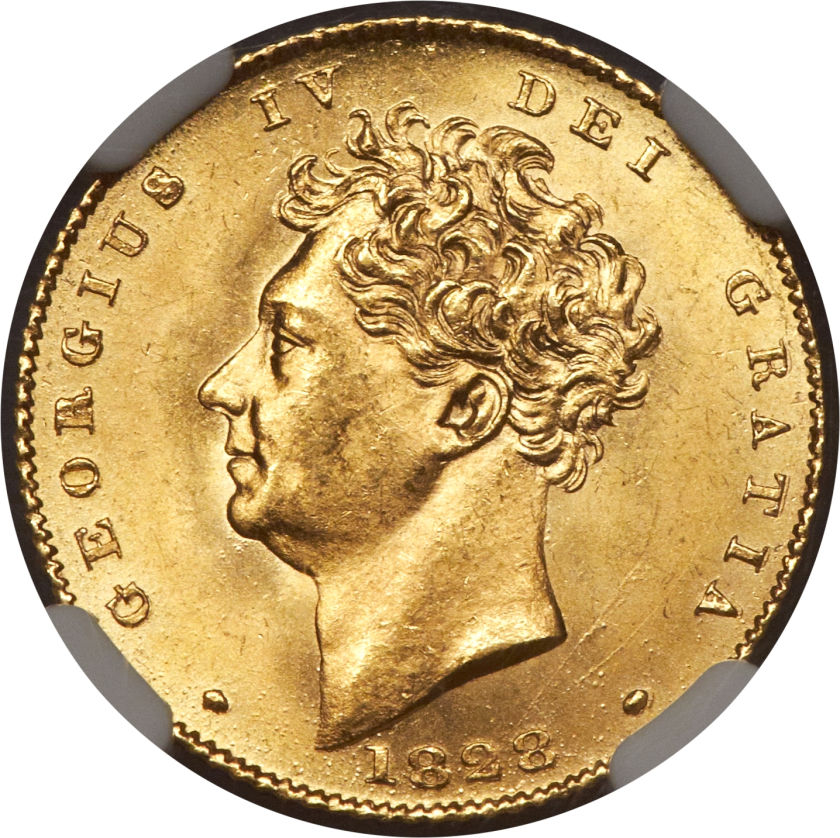 Half Sovereign 1828: Photo Great Britain 1828 1/2 sovereign