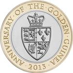United Kingdom / Two Pounds 2013 Anniversary of the Guinea - reverse photo