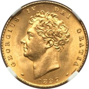 United Kingdom / Half Sovereign 1827 - obverse photo