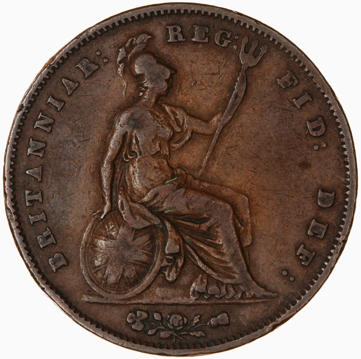 Penny 1855: Photo Coin - Penny, Queen Victoria, Great Britain, 1855