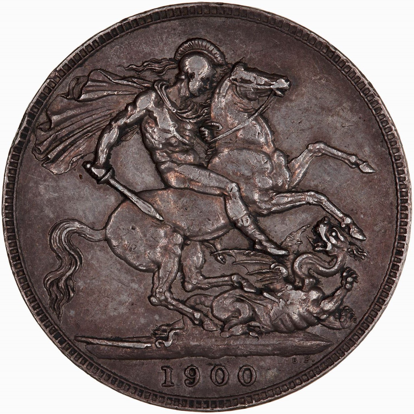 Crown 1900: Photo Coin - Crown, Queen Victoria, Great Britain, 1900