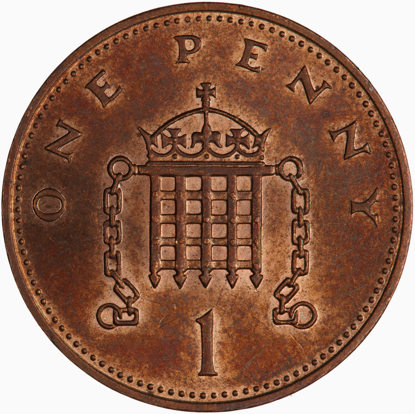 One Penny 1983: Photo Coin - 1 Penny, Elizabeth II, Great Britain, 1983