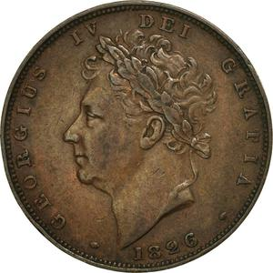United Kingdom / Farthing 1826 (Second Issue) - obverse photo
