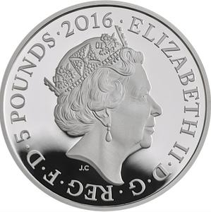 United Kingdom / Five Pounds 2016 Poetry and Language - obverse photo
