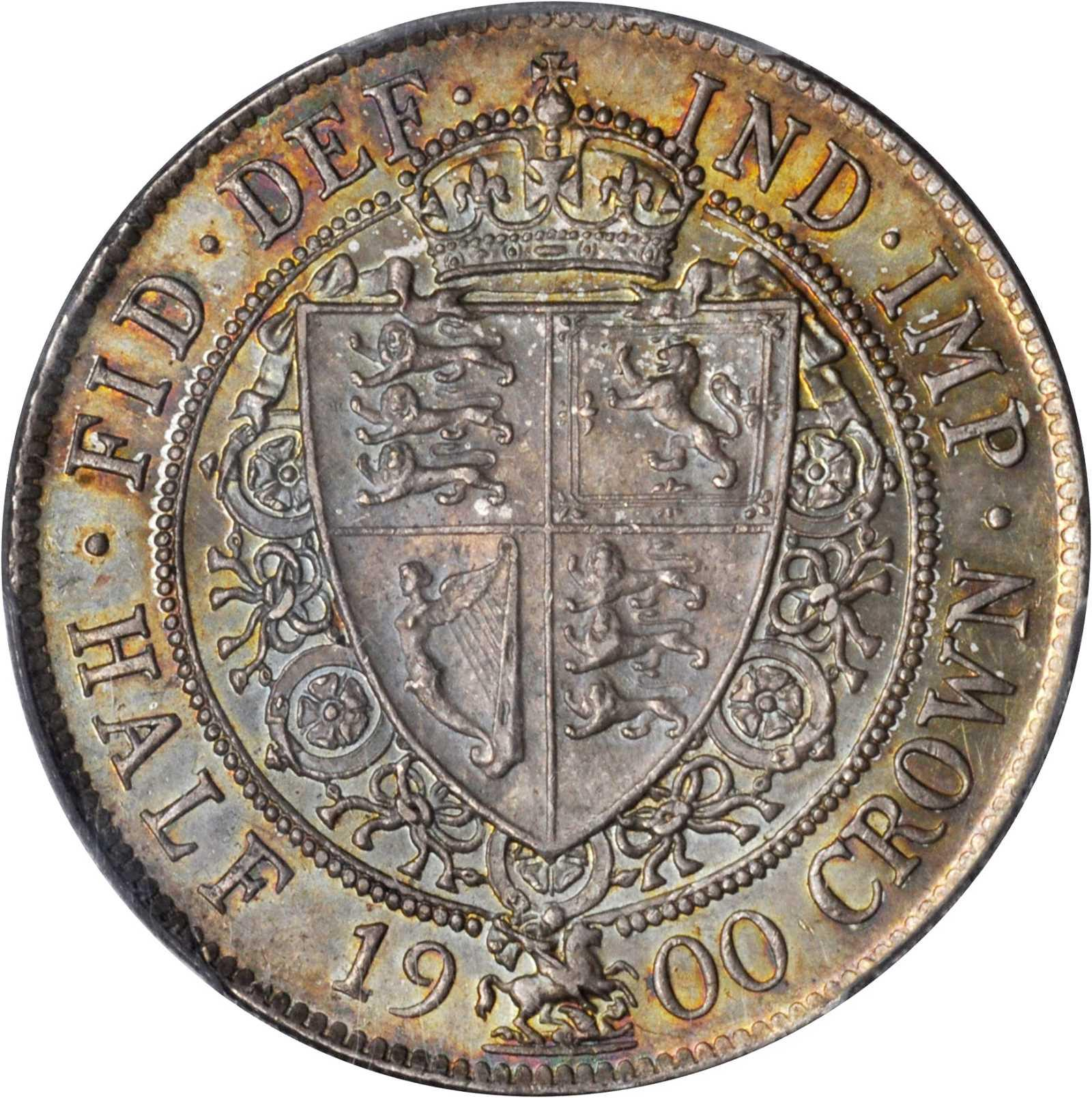 Halfcrown 1900: Photo Great Britain 1900 half crown