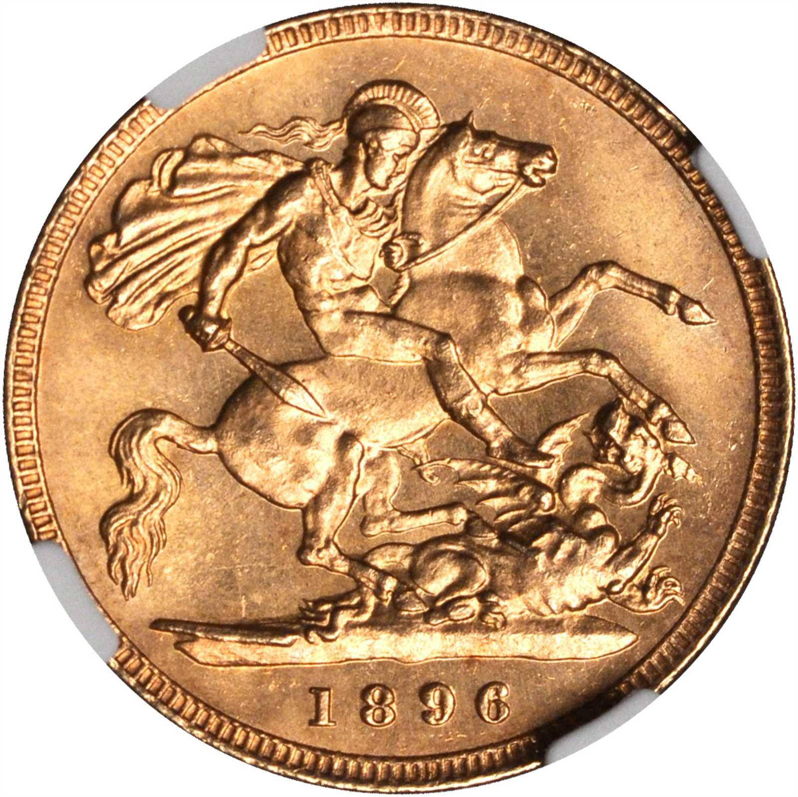 Half Sovereign 1896: Photo Great Britain 1896 1/2 sovereign