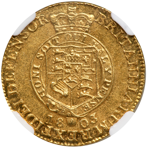 Half Guinea 1803: Photo Great Britain 1803 1/2 guinea