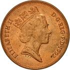 United Kingdom / Two Pence 1992 - obverse photo